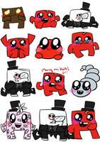 Super Meat Boy doodles. Again. by GrimReaperbutt