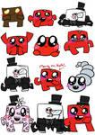 Super Meat Boy doodles. Again.