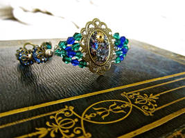 Crystals and Ore Bracelet by thevampirepandora