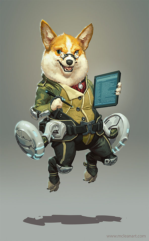 Space Corgi by mc-the-lane