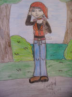 Claire on hiking trip by Mlie-Redfield