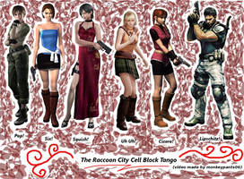 Raccoon City Cell Block Tango by Mlie-Redfield