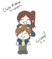 Claire's Glomp Attack by Mlie-Redfield
