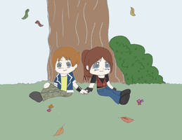 Watching The Leaves Fall by Mlie-Redfield