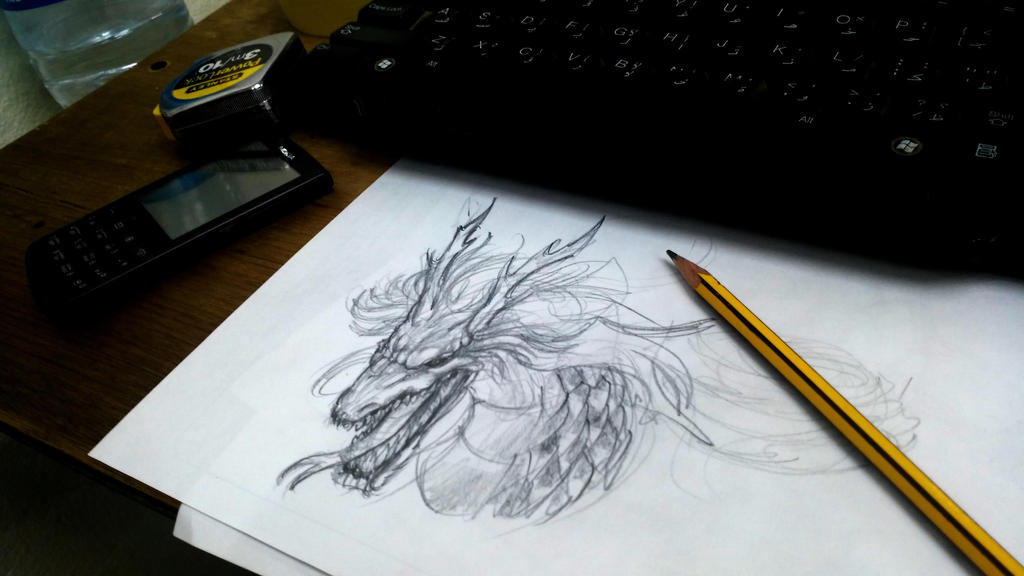 doodling at work by Kulot