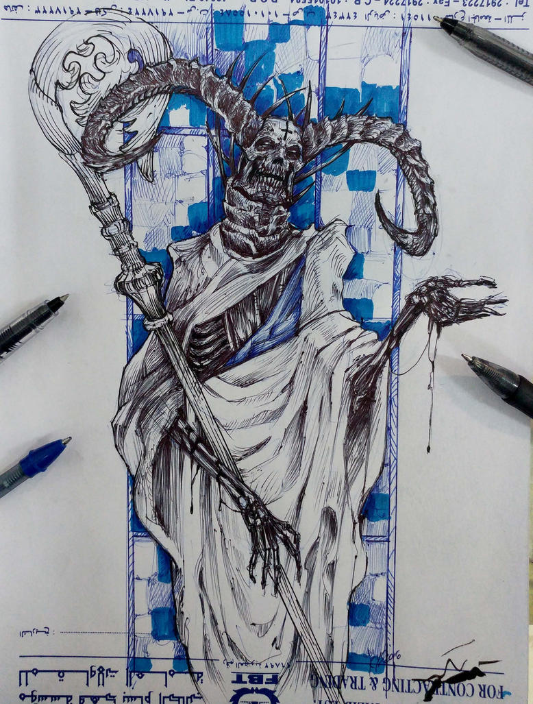 saint bones, for inktober by Kulot