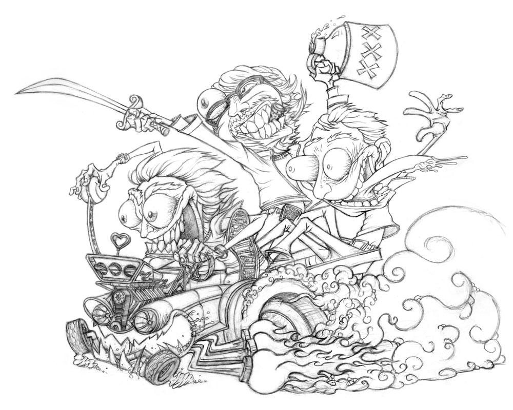 rat fink coloring pages - photo#12