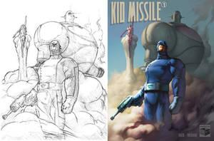 Kid Missle, Sketch to Color by DaveIgo