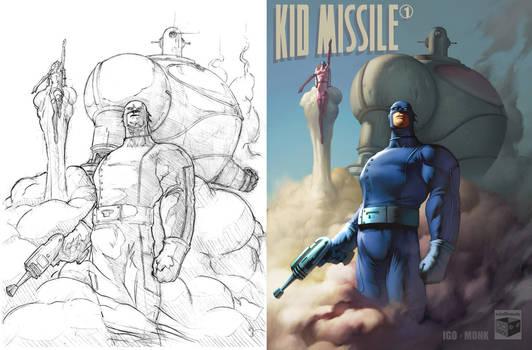 Kid Missle, Sketch to Color