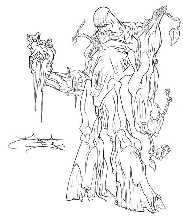 swamp monster coloring pages | Swamp - Free Coloring Pages