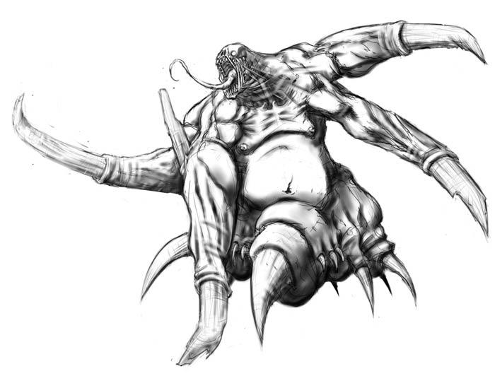 how to draw a deathclaw