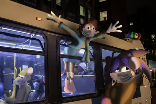 Sarah On A Bus (Covid safe edition)