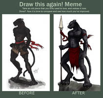 Draw it again Meme: Pantherman by shadowsmyst