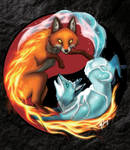 Fire and Ice Foxes