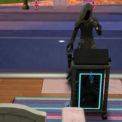 The Sims 4: Grim Reaper sings karaoke by ryuusei86