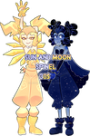 Sun and Moon spinel(closed) by MeruRei