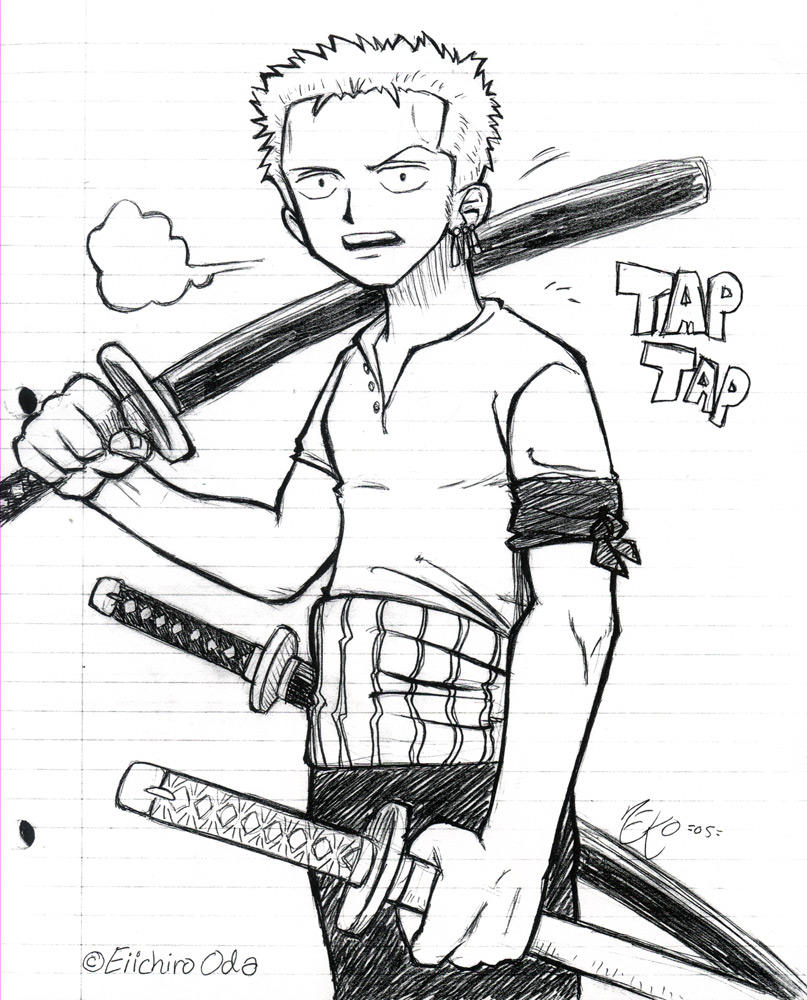 Zoro is hot by pirateneko