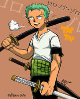 Zoro is hot in color by pirateneko