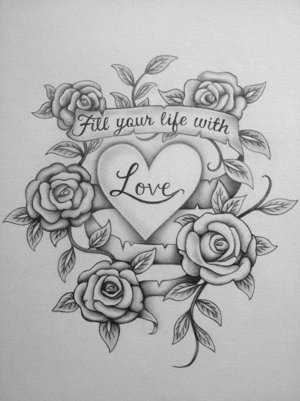 Love Tattoo Drawings PencilI Love You Pencil Sketches