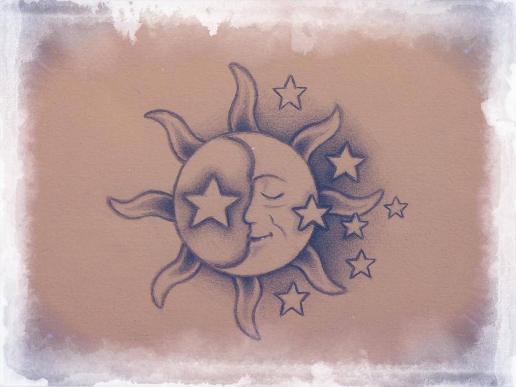 Moon tatttoo design by shell31 on deviantart for Goodnight moon tattoos