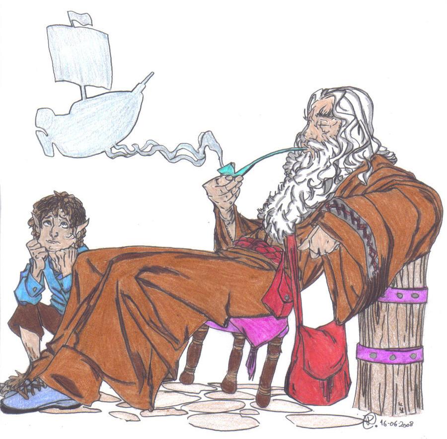 Gandalf and Bilbo Baggins by LoboSolitario1983