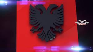 Flamuri Shqiptar 3D by xhevahir