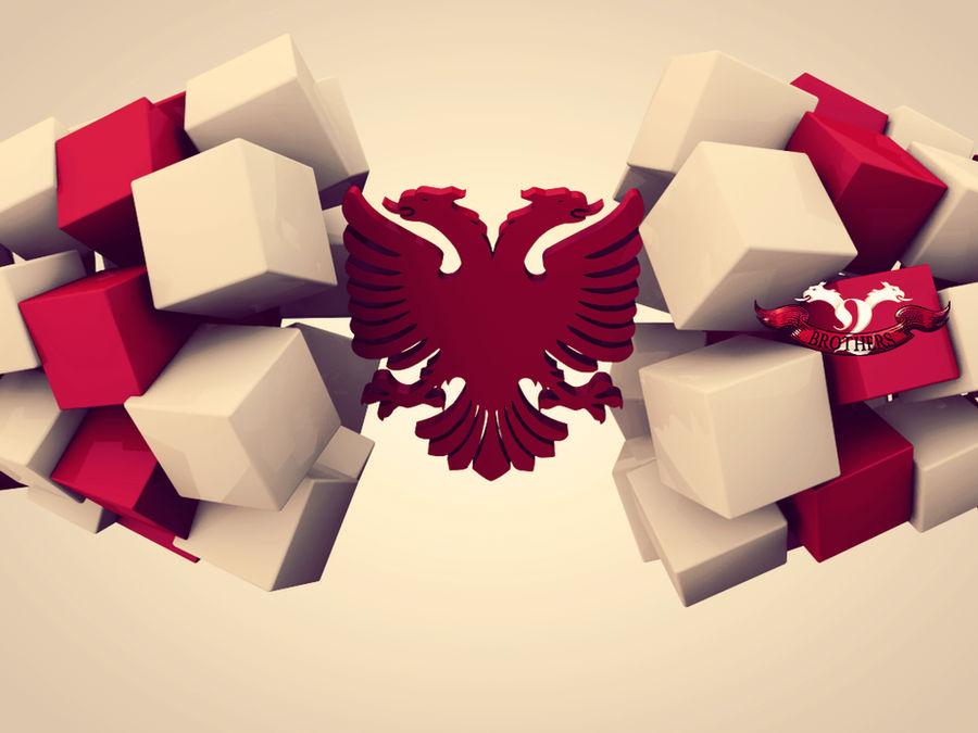 Albanian Eagle 3D by xhevahir