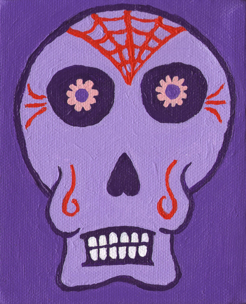 Day of the Dead in Purple by gothicspryte