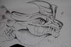 Kaiju Sketch by TheBlueGuardian