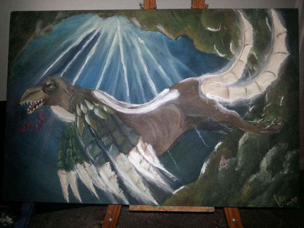 luminescent sea hawk by TheBlueGuardian