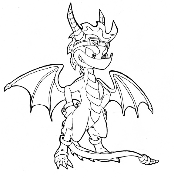 Spyro 39 s new style by spyrothefox on deviantart for Spyro the dragon coloring pages