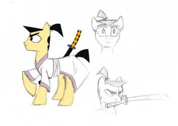 samurai pony by SpyrotheFox