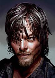 Daryl Dixon by paulwilliamsart
