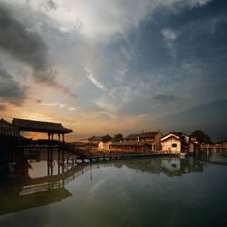 Wuzhen at dawn by foureyes