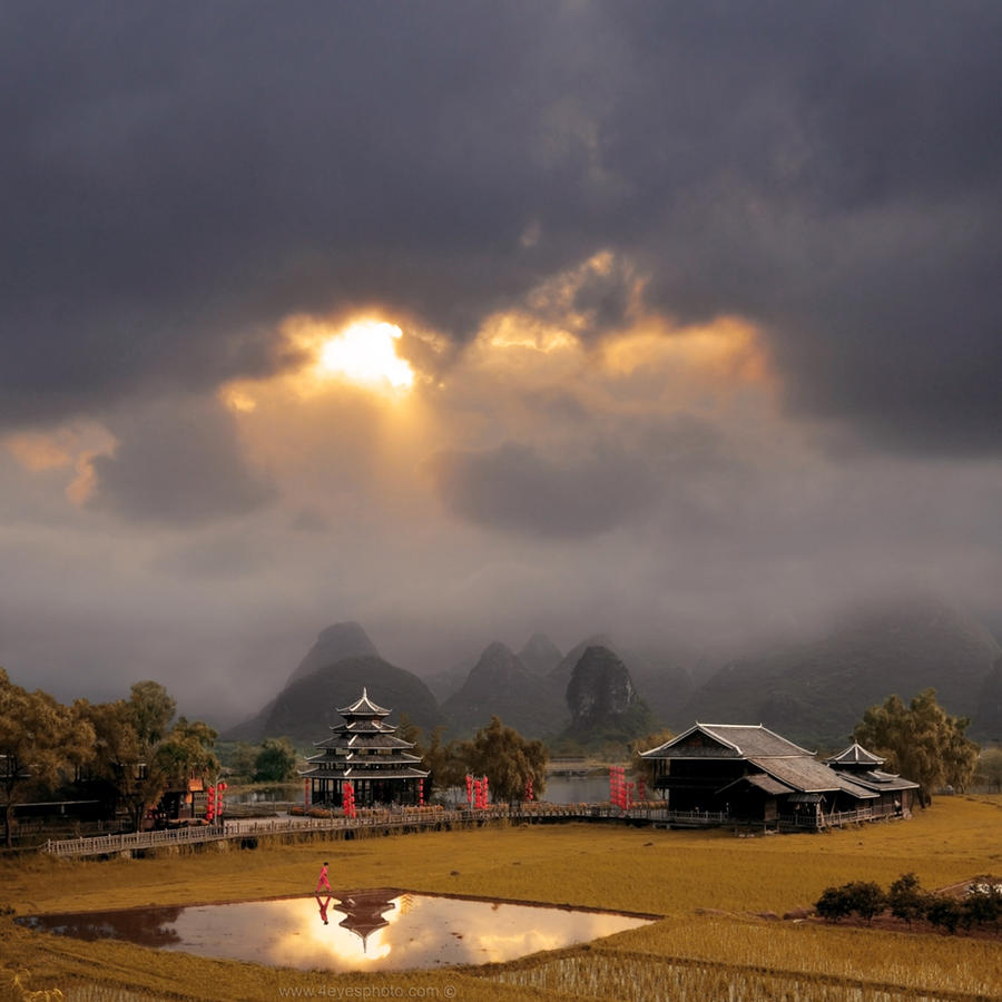 the Karst hills of Guangxi
