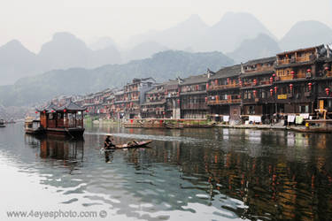 Tuojian River Town by foureyes