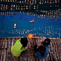 Loy Kratong - Thai Lantern festival by foureyes
