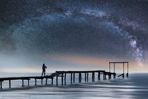 Milky Way over Seabrook Texas by foureyes