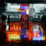 The rain in Nanjing