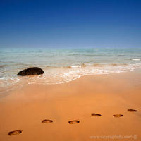 footsteps in the sand.....