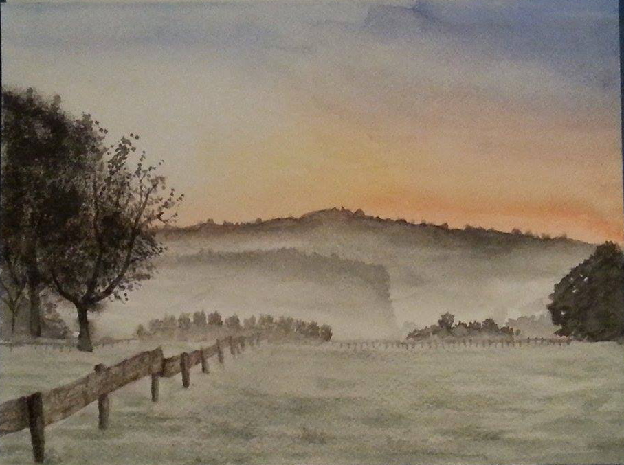 Foggy landscape by Unga33