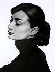 Audrey Hepburn 2 by SandraSaar