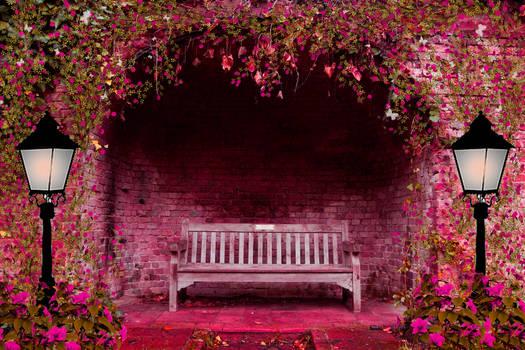Spring Garden Premade Background