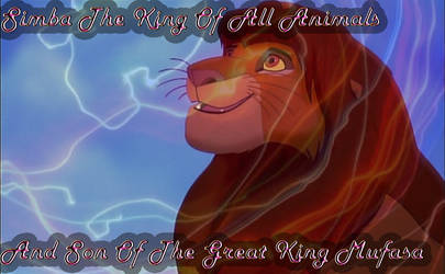 Simba The Proud King