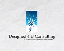 Designed 4 U Consulting logo design