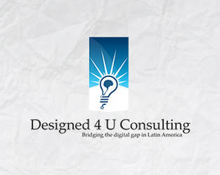 Designed 4 U Consulting logo design by Dzire2Dzine