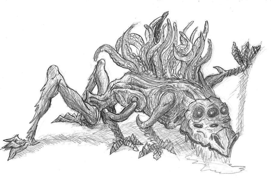 samuel toniolo portfolio  weird creature  waiting for color