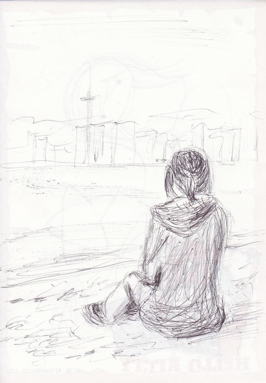 Seaside Sketch by DDRKirbyISQ