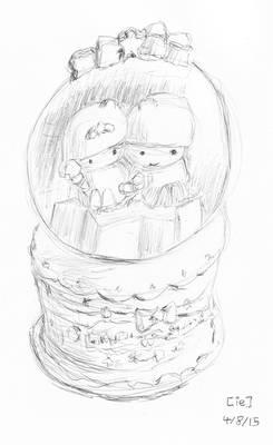 Little Twin Stars Snow Globe