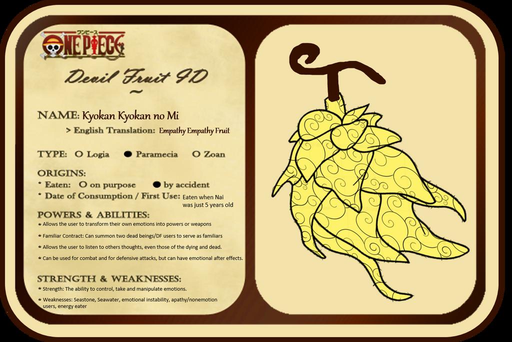 Devil Fruit ID card: Kyokan Kyokan no Mi by ALioness-w-NoRegrets